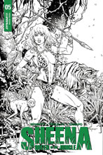 Image: Sheena Queen of the Jungle #5 (cover E incentive - Thibert B&W) (10-copy) - Dynamite