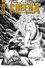 Image: Sheena Queen of the Jungle #5 (cover F incentive - Santucci B&W) (20-copy) - Dynamite