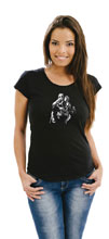 Image: Batman Women's T-Shirt: Hushhhhh by Jim Lee  (M) - Graphitti Designs