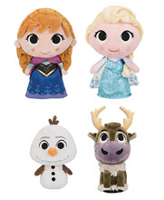 Image: Supercute Plush Disney Frozen 9-Piece Plush Display  - Funko
