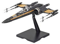 Image: Star Wars: E8 Plastic Model Kit - Poe Boosted X-Wing  (1/72 scale) - Bandai Hobby