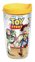 Image: Disney Tumbler: Pixar - Toy Story  (w/Yellow Lid) (16-ounce) - Tervis Tumbler Co.