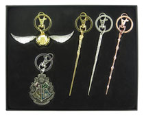 Image: Harry Potter Pewter Keyring 4-Piece Set  (SDCC 2017 exclusive) - Monogram Products