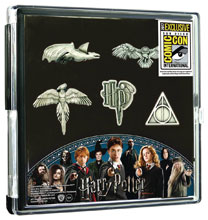 Image: Harry Potter Pewter Lapel Pin 5-Pack Set  (SDCC 2017 exclusive) - Monogram Products
