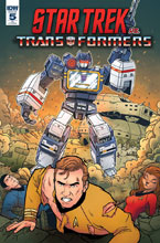 Image: Star Trek vs. Transformers #5 (incentive cover - Panda) (10-copy) - IDW Publishing