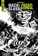 Image: Hack / Slash vs. Chaos #2 (incentive cover - Cermak B&W) (10-copy) - Dynamite