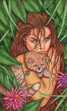 Image: Cavewoman: Markham's Mansion #1 (cover F - Valentina) - Amryl Entertainment