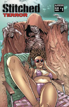 Image: Stitched Terror #1 (variant cover - Lurking) - Avatar Press Inc