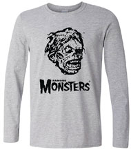 Image: Shock Monster Long Sleeve T-Shirt  (XL) - Famous Monsters of Filmland