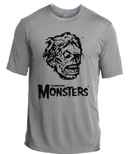 Image: Shock Monster Silver T-Shirt  (L) - Famous Monsters of Filmland
