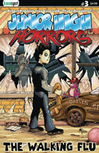 Image: Junior High Horrors #3 (cover A - The Walking Flu) - Keenspot Entertainment