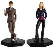 Image: Doctor Who Figure Collectible Companion Set #2 (Tenth Doctor & Rose Tyler) - Eaglemoss Publications Ltd
