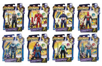 Image: Avengers 6-Inch Action Figure w/Infinity Stone Set 201803  (8) - Hasbro Toy Group