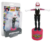 Image: Spider-Gwen Wood Push Puppet  - Entertainment Earth LLC