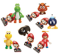 Image: World of Mario Wind-Up Toy Display  - Jakks Pacific