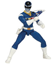 Image: Power Rangers Legacy in Space Blue Ranger 6-Inch Action Figure Case  - Bandai America