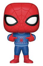 Image: Pop! Marvel Vinyl Figure: Spider-Man  (w/Ugly Sweater) - Funko