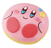 Image: Kirby Super Star Fluffy Squeeze Star Donut Shop Kirby 9-Piece Display  - Megahouse Corporation