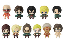 Image: Attack on Titan 3D Figural Keyring 24-Piece Blind Mystery Box Display  - Monogram Products