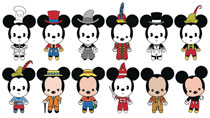 Image: Mickey Thru the Years 3D Figural Keyring 24-Piece Blind Mystery Box Display  - Monogram Products