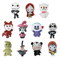 Image: Nightmare Before Christmas 3D Plush Keyring 24-Piece Blind Mystery Box Display  - Monogram Products