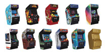 Image: Retro Game Machine 3D Figural Keyring 24-Piece Blind Mystery Box Display  - Monogram Products