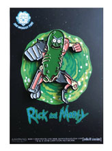 Image: Rick and Morty Pin: Leaping Pickle Rick  - Zen Monkey Studios LLC