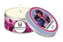 Image: Overwatch Scented Candle Tin: D.Va  (5.6 ounce) - Insight Editions