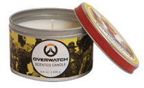 Image: Overwatch Scented Candle Tin: Mercy  (5.6 ounce) - Insight Editions