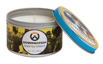 Image: Overwatch Scented Candle Tin: Tracer  (5.6 ounce) - Insight Editions