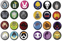 Image: Overwatch Mini Button Set Display  (12-Pack) - Ucc Distributing