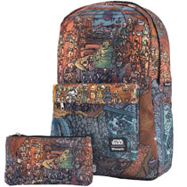Image: Star Wars Jabba's Place Print Backpack and Pencil Case  - Entertainment Earth LLC