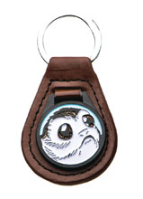 Image: Star Wars Leather Key Chain: Porg  - Sales One LLC