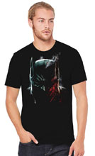 Image: Batman T-Shirt: Batman Damned  (L) - Graphitti Designs