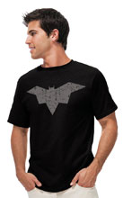 Image: Batman T-Shirt: Batman Damned Symbol  (XL) - Graphitti Designs