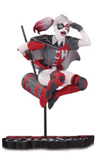 Image: Harley Quinn Statue: Red, White & Black by Guillem March  - DC Comics