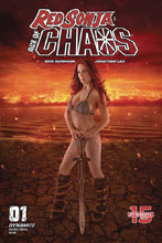 Image: Red Sonja: Age of Chaos #1 (cover E - Cosplay) - Dynamite