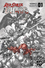 Image: Red Sonja: Age of Chaos #1 (incentive 1:40 cover - Quah Hell Red) - Dynamite