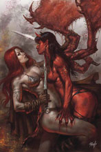 Image: Red Sonja: Age of Chaos #1 (variant cover - Parrillo virgin) - Dynamite