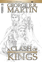 Image: George R.R. Martin's A Clash of Kings Vol. 02 #1 (incentive 1:20 cover - Rubi B&W) - Dynamite