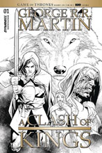 Image: George R.R. Martin's A Clash of Kings #1 (incentive 1:40 cover - Segovia B&W) - Dynamite