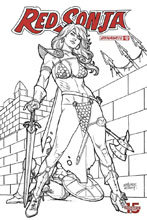 Image: Red Sonja Vol. 05 #12 (incentive 1:30 cover - Linsner B&W) - Dynamite