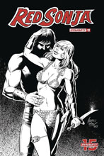 Image: Red Sonja Vol. 05 #12 (incentive 1:50 cover - Pepoy B&W) - Dynamite
