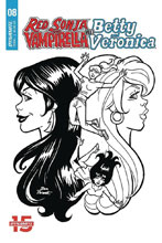 Image: Red Sonja & Vampirella Meet Betty & Veronica #8 (incentive 1:10 cover - Parent B&W) - Dynamite