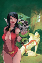 Image: Vampirella / Red Sonja #5 (incentive 1:30 cover - Moss virgin) - Dynamite