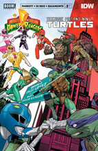 Image: Power Rangers / Teenage Mutant Ninja Turtles #2 (cover A - Mora) - Boom! Studios