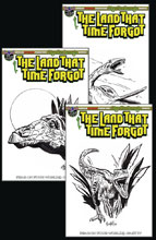 Image: Land That Time Forgot #1 (variant cover - Fear on Four Worlds Dino Sketch) - American Mythology Productions