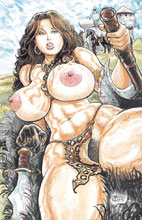 Image: Cavewoman: Spellbinder #1 (cover C - Massey nude) - Amryl Entertainment