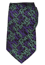 Image: DC Silk Tie: The Joker - Black  - Cufflinks Inc.
