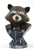 Image: Marvel Legends in 3D Bust: Avengers3 - Rocket Raccoon  (1/2 scale) - Diamond Select Toys LLC